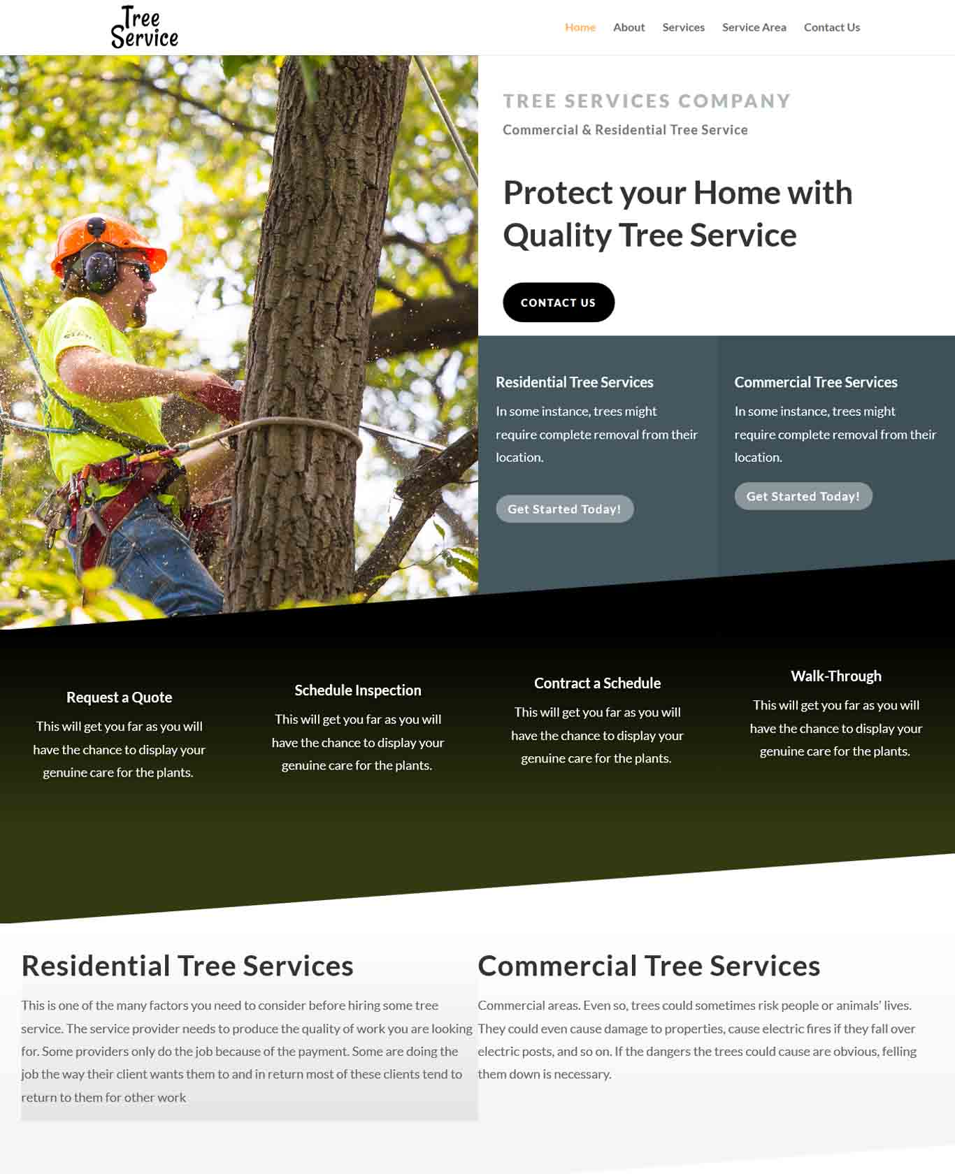 Prestige Tree Service Websites Example