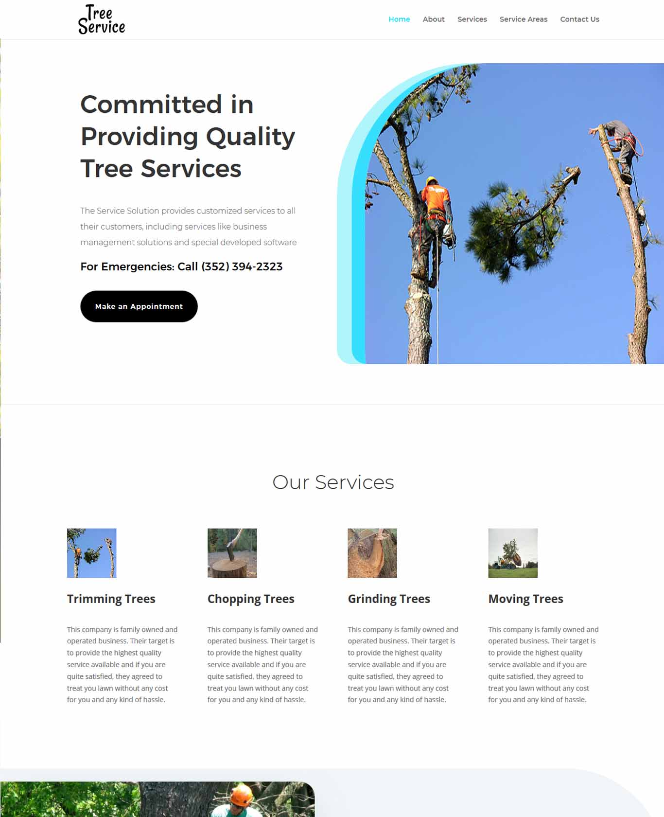 Service Tree Service Websites Example